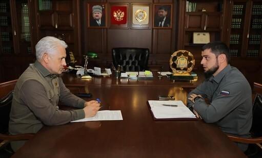 Муслим Хучиев обсудил с Ахмедом Дудаевым вопросы совершенствования работы региональных СМИ