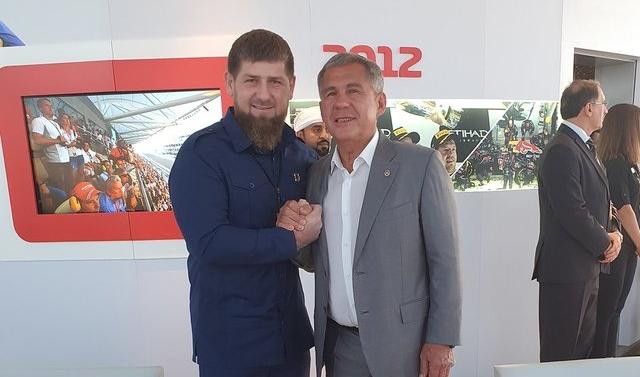 Президент Татарстана Рустам Минниханов встретился с Рамзаном Кадыровым
