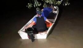 В Шелковском районе сотрудники МЧС спасли пастуха с затопленного островка на реке Терек