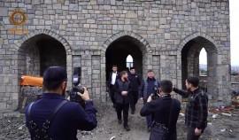 Рамзан Кадыров проинспектировал строящийся исламский центр в Ахмат-Юрте «Хьаьжин беш»