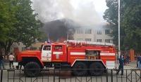 Пожар в школе Грозного ликвидирован