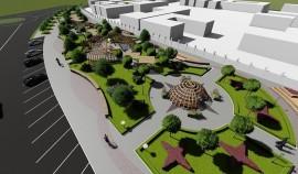 В Курчалое начато строительство парка отдыха