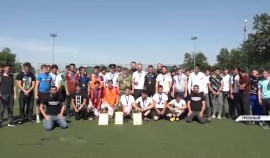 Завершился мини-футбольный турнир среди детей погибших сотрудников правоохранительных органов.