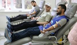 Донорская акция по сдаче крови прошла в Грозном