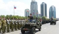 В Грозном прошел военный парад, посвященный 74-летию со Дня Победы в ВОВ