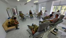 Росгвардейцы ЧР сдали кровь для нуждающихся в ней пациентов