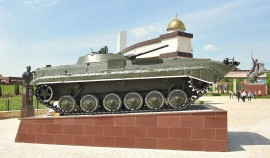 В Мемориальном комплексе им. А.А. Кадырова установили новый экспонат - БРМ-1К