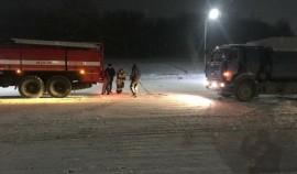 Чеченские пожарные помогли 11 дальнобойщикам, попавшим в нештатные ситуации из-за снежных заносов