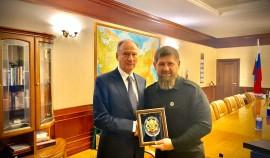 Глава Чеченской Республики поздравил Николая Патрушева с днем рождения