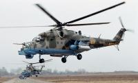Три ударных вертолета ВКС РФ покинули авиабазу Хмеймим в Сирии