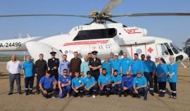 Санитарная авиация ЧР получила новый медицинский вертолет МИ-8 АМТ