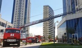 Масштабные пожарные учения прошли в высотном комплексе «Грозный-Сити»