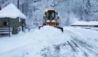 В горных районах Чечни продолжаются снегоуборочные работы