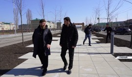 Рамзан Кадыров проверил ход реконструкции проспекта имени Ахмата-Хаджи Кадырова