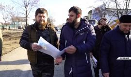 Рамзан Кадыров ознакомился с ходом реконструкции проспекта имени  Ахмата-Хаджи Кадырова