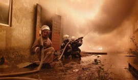В Аргуне произошел пожар на АЗС. Пострадавших нет