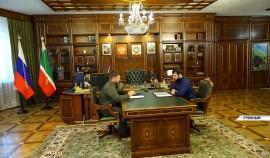 Рамзан Кадыров встретился с министром ЧР по физической культуре, спорту и молодёжной политике