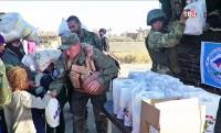 Российские военные доставили гумпомощь в город Забадани