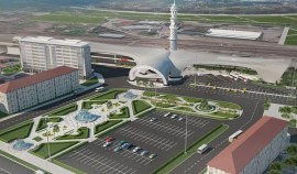 В сети Интернет опубликованы фотографии проекта будущего ЖД вокзала в Грозном
