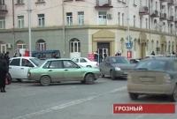 Трудности движения на дорогах Грозного