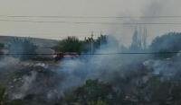 В Гудермесе ликвидирован пожар на мусорной свалке