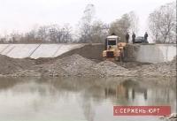 В Сержень-юрте завершено строительство берегоукрепительной дамбы