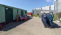 В Грозном отметили сотрудников МЧС, отличившихся в борьбе с COVID-19