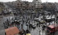 Жертвами двойного теракта в  сирийском городе Хомсе стали  46 человек