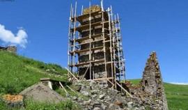 ВИтум-Калинском районе ЧРначали реставрацию двух жилых башен и склепа