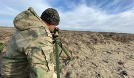 В Чеченской Республике проходит полевой выход артиллеристов Росгвардии