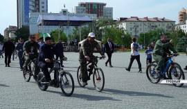 Рамзан Кадыров совершил велопрогулку по улицам Грозного