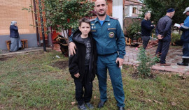 В Грозном пожарный спас из огня десятилетнего мальчика