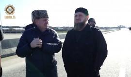 Рамзан Кадыров проинспектировал строительство новой автомагистрали