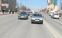 В Чечне состоялся автопробег, приуроченный ко Дню Конституции республики