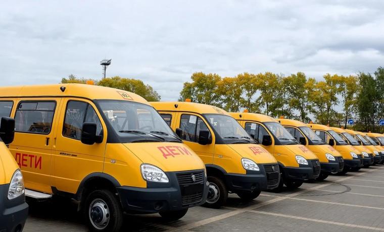 Школьный автопарк ЧР пополнился 62 микроавтобусами и 1 автобусом