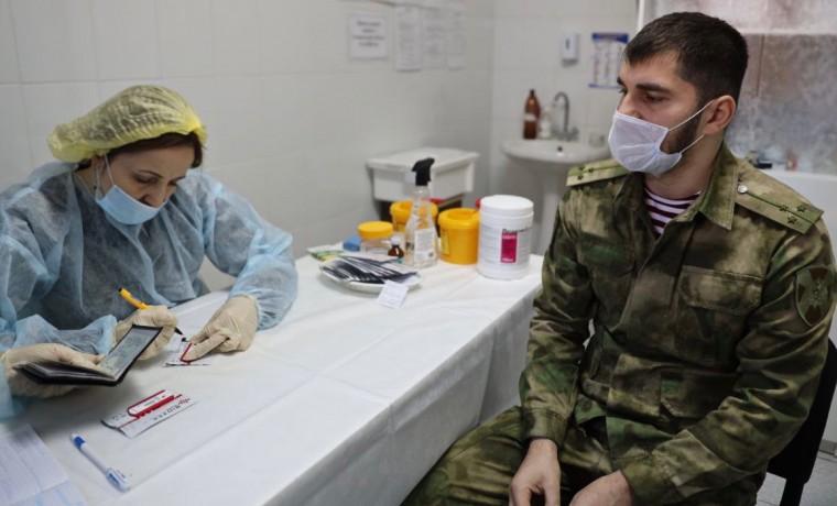 Росгвардейцы ЧР прошли вакцинацию от коронавируса