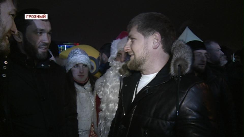 Рамзан Кадыров побывал на главной елке в Грозном