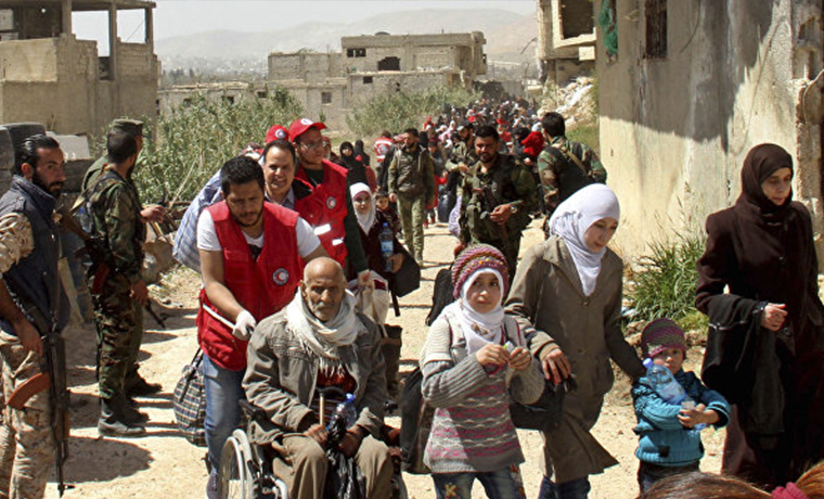 Более 122 тысяч человек покинули Восточную Гуту с начала действия гуманитарных пауз