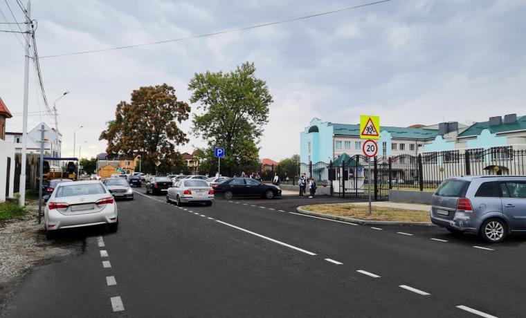Благодаря нацпроекту в Грозном ремонтируют дороги к школам