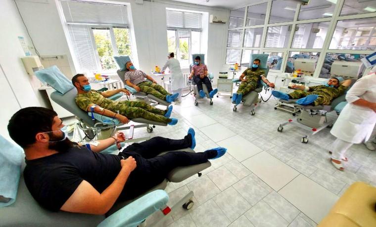 Росгвардейцы ЧР приняли участие в донорской акции