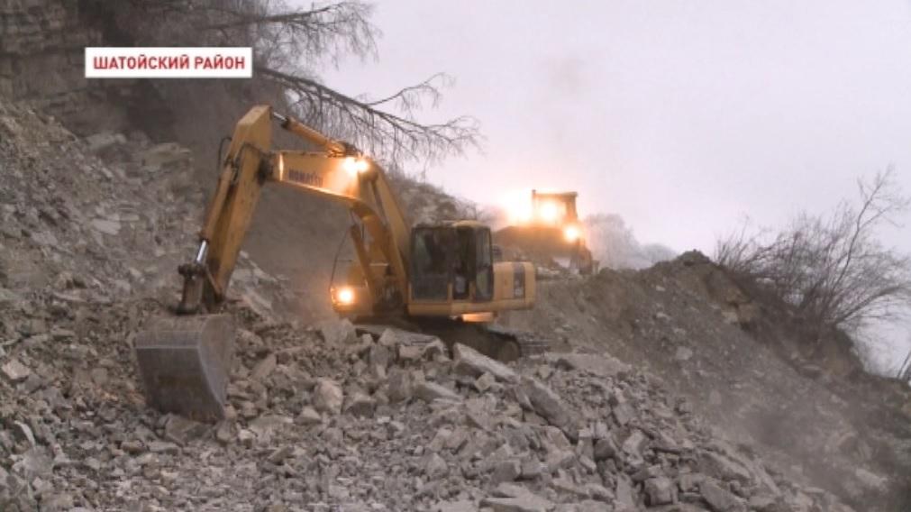 На  трассе  Грозный – Шатой – Итум - Кали продолжаются строительные работы