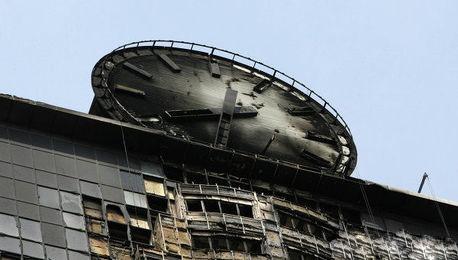 Гигантские часы на высотке «Грозный-Сити» заработали