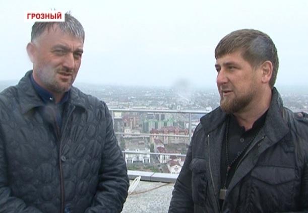 Инспекция Рамзана Кадырова на территории высотного комплекса «Грозный-Сити»