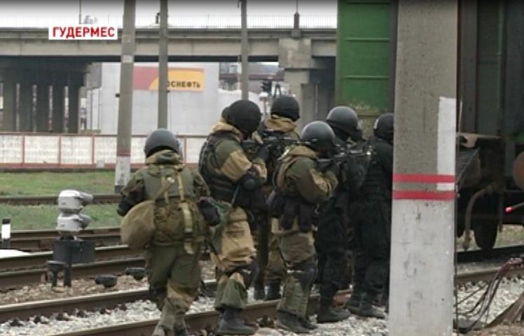 В Гудермесе прошли учения Федеральной службы безопасности