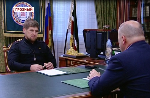 Встреча Р.Кадырова с министром промышленности и энергетики Чеченской Республики  Г.Таймасхановым