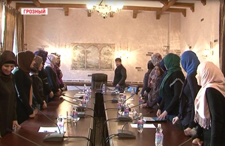 Р. Кадыров поздравил активисток клуба «Иман» с Международным женским днем