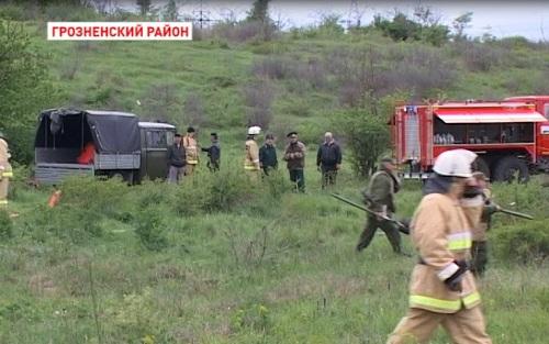 В Чечне прошли учения по тушению лесных пожаров