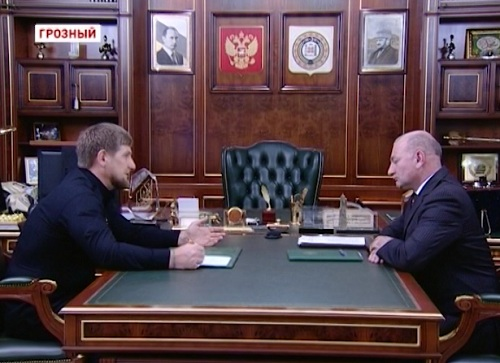 Р. Кадыров встретился с гендиректором ОАО «Грознефтегаз» Мусой Эскерхановым