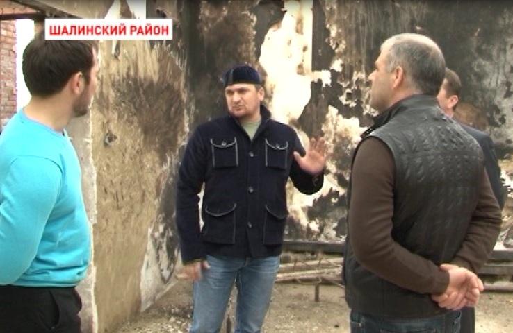 Помощь погорельцам от Главы Чечни