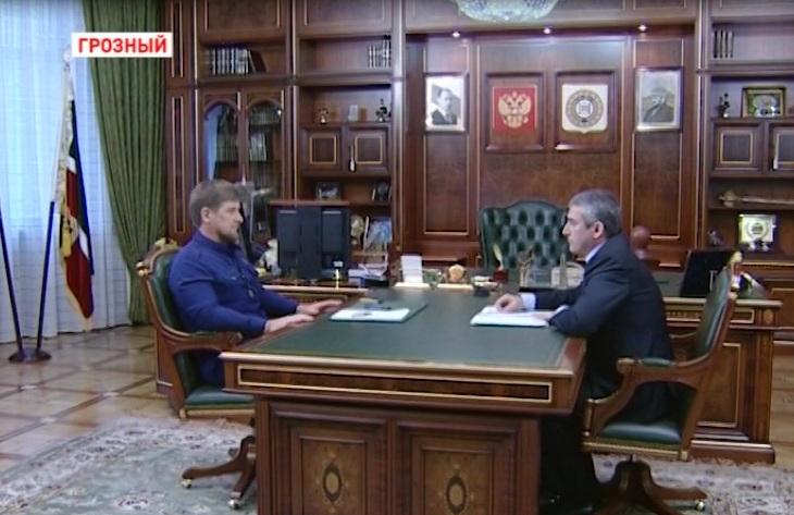 Р. Кадыров встретился с министром финансов У. Рассухановым